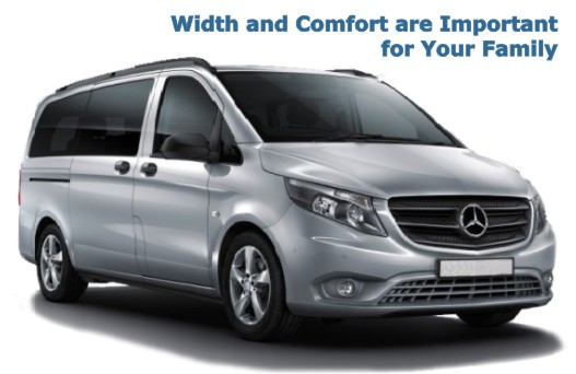 MERCEDES VITO. Width and Comfort are Important for Your Family